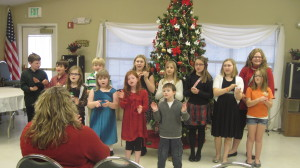 Singing at Wesley Senior Ministries.